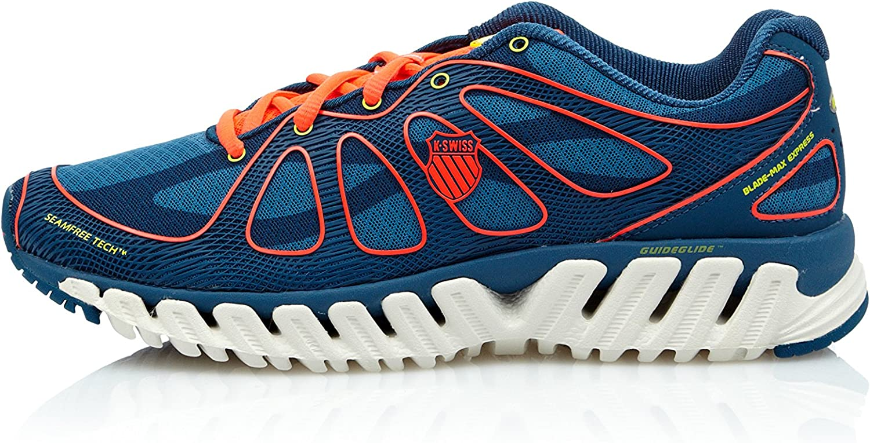 k-swiss Zapatillas Running Blade Max Express Mrccn, Azul Indigo / Coral Neón, talla EU 41.5: Amazon.es: Zapatos y complementos