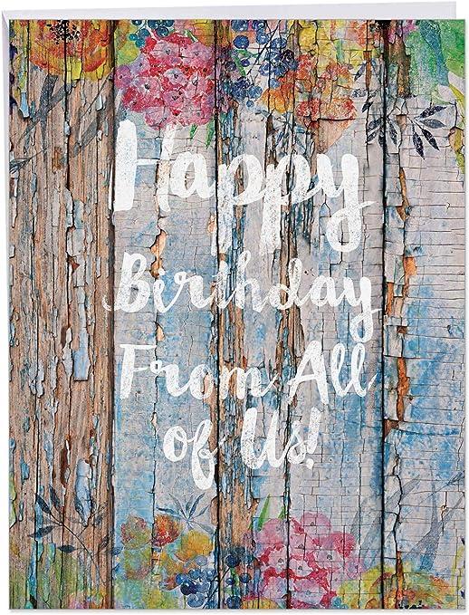 Amazon.com: j6108ebdg-us Jumbo Tarjeta de cumpleaños: flor ...