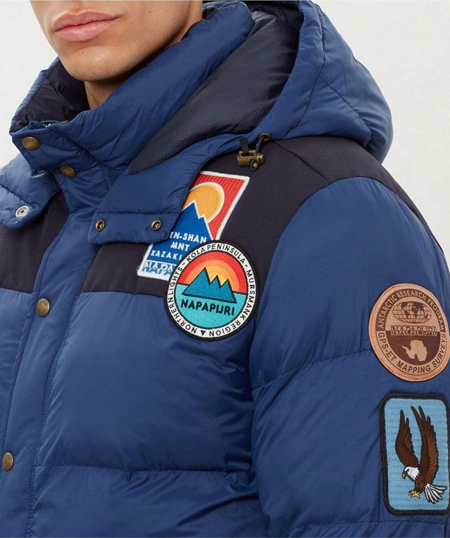 Napapijri Hombres Chaqueta Acolchada Artic 1 Azul Medio: Amazon.es: Ropa y accesorios