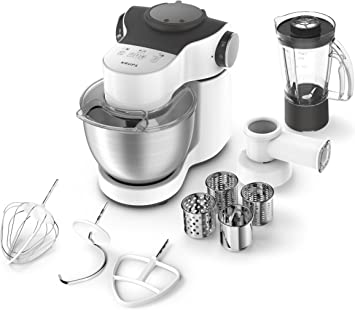 Krups ka2531 Robot de cocina Master Perfect Plus, 4 L, 700 W, incluye accesorios, acero inoxidable/blanco: Amazon.es: Hogar