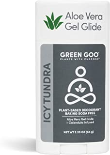 product image for Green Goo Natural Deodorant Gel for Men and Women, Icy Tundra, Oval, 2.25 Ounce
