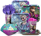 Designware Disney Frozen Party Supplies Pack Including Plates Cutlery Cups Napkins for 8  sc 1 st  Amazon.com & Amazon.com: Frozen Party Pack for 16: Toys u0026 Games