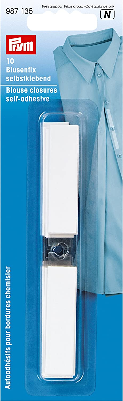 Prym 987135 Blouse Closures self-Adhesive 12 x 115mm 10 Pieces