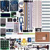Projet pour Arduino UNO R3 Nano Mega2560 Mega328, kit de démarrage avec une alimentation 9V 1A Kuman K27