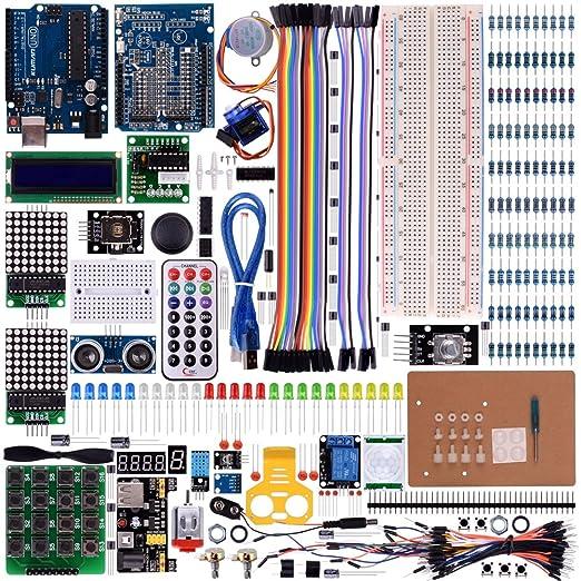 9 opinioni per Kuman Nuova Uno Kit R3 Principiante per Arduino Mega2560 Mega328 Nano Progetto