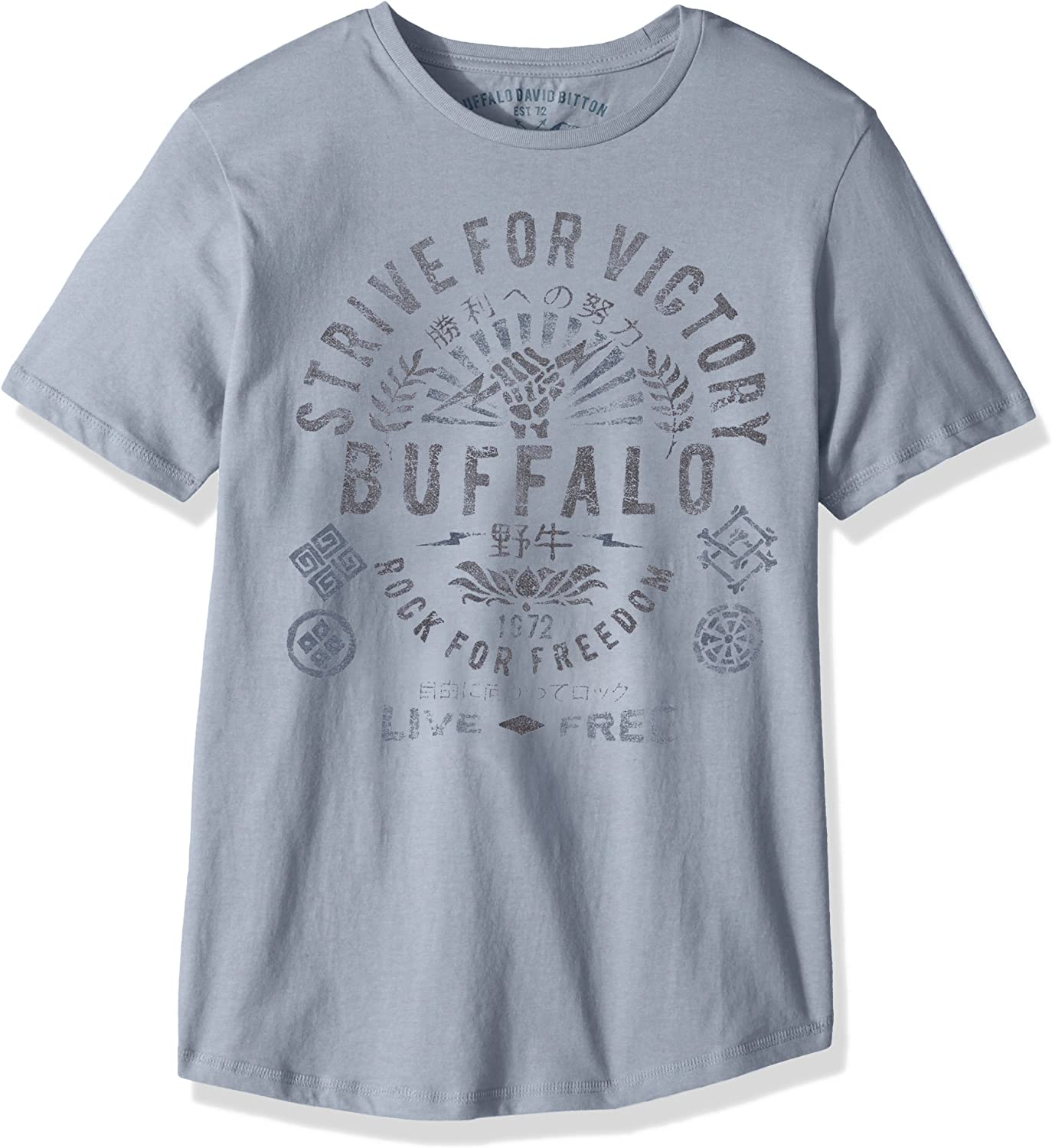 Buffalo David Bitton Boys Big Short Sleeve Graphic Tee Shirt