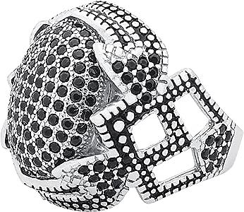 خاتم رجالي,مقاس 8,مع الحجر الأسود الزركون