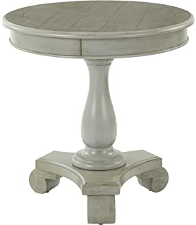 INSPIRED By Bassett Avalon Round Accent Table, Antique Grey