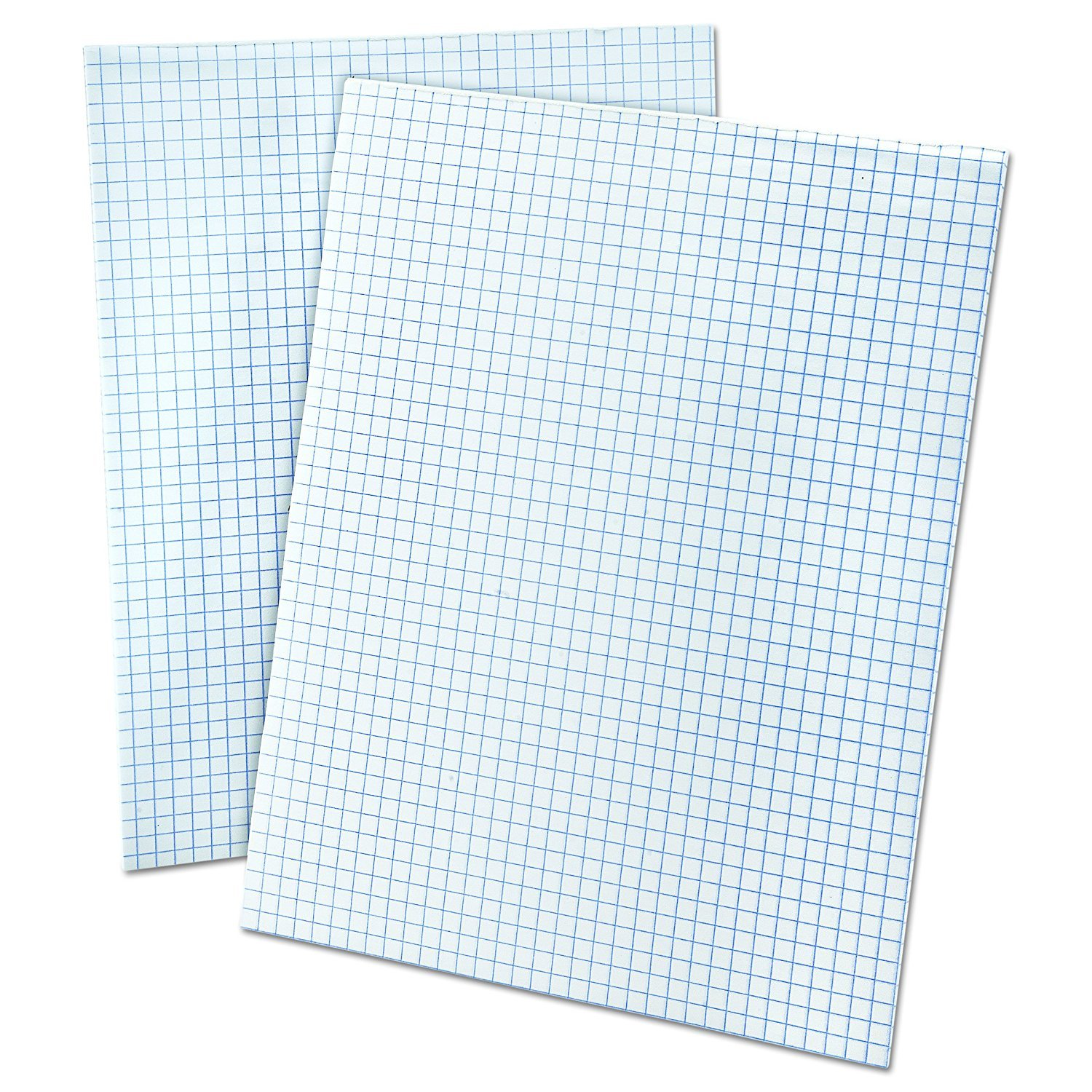 Ampad 8 1/2 x 11 Inches White Quad Pad, 4 Square Inch, 50 Sheets, 1 Each (22-030C) (2 Pack)