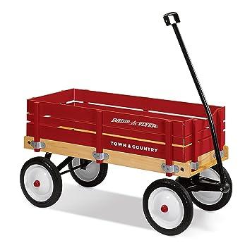 Amazon Com Radio Flyer Town And Country Wagon Radio Flyer Toys