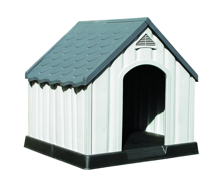 Caseta para perro XL, plástico resistente, uso al aire libre: Amazon.es: Productos para mascotas