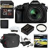 Panasonic Lumix DMC-FZ1000 4K QFHD/HD 16X Long Zoom Digital Camera (Black) + Polaroid 32GB+ Battery + Polaroid 62mm UV Filter + Camera Bag + Cleaning Kit + Screen Protector + Wallet