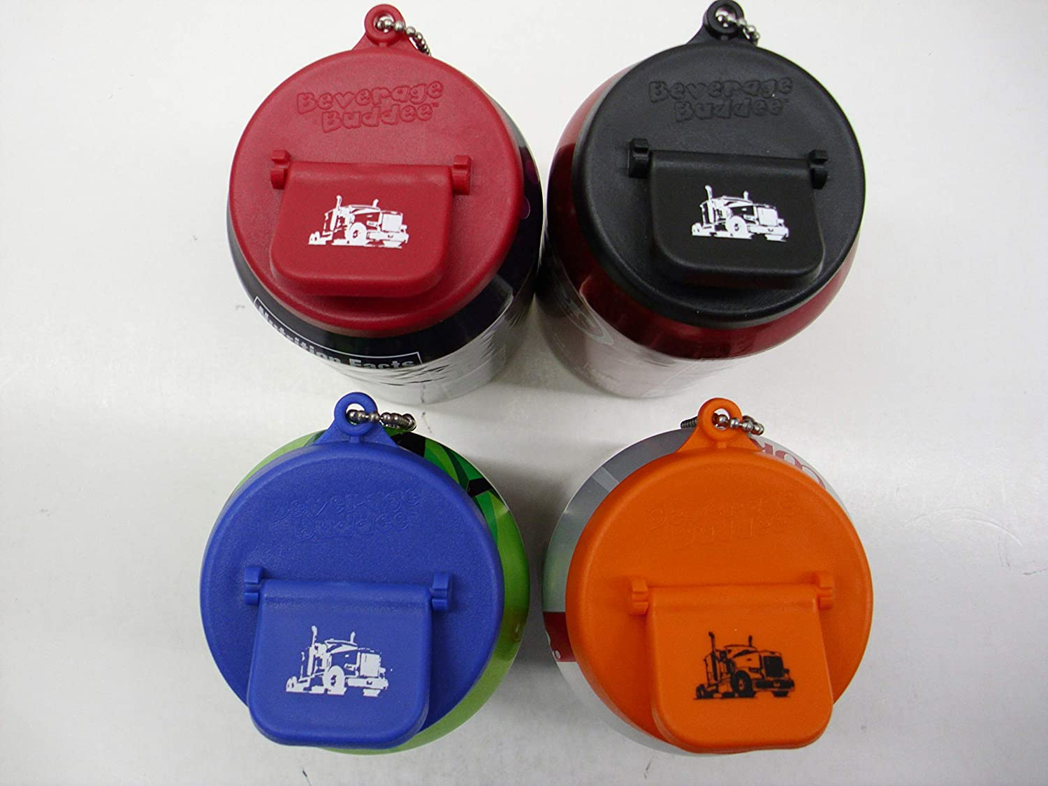 Beverage Buddee Can Cover - Semi Imprint with Keychain - Best Can Cover For Standard Size Soda/Beer/Energy Drink Cans - Made In The USA - BPA-PCB Free