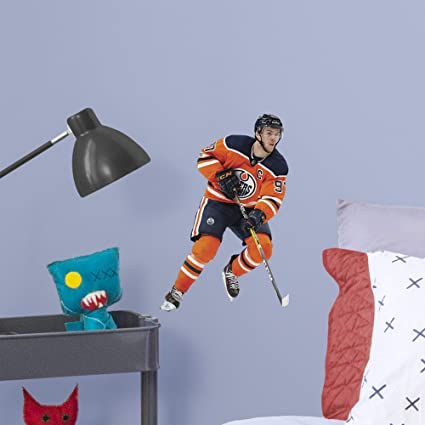 5e29b0369 FATHEAD NHL Edmonton Oilers Connor McDavid Officially Licensed Removable  Wall Decal