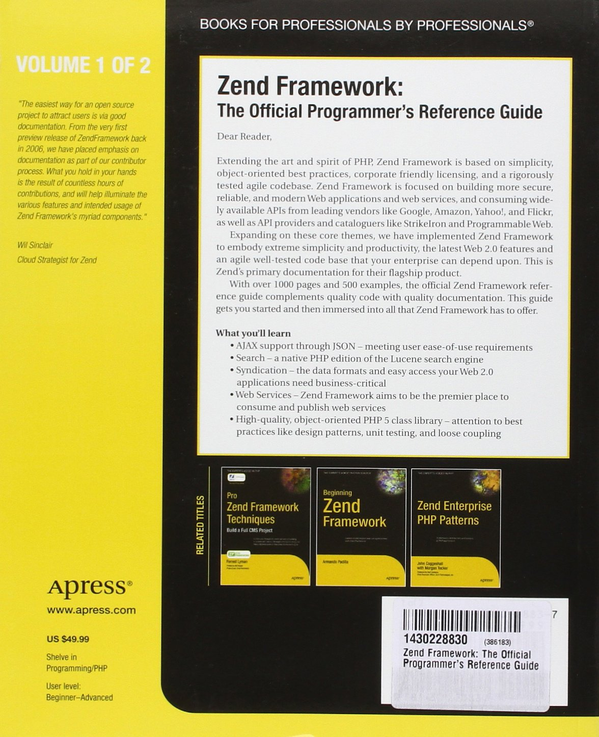 zend framework the official programmer s reference guide expert s rh amazon in Zend Optimizer 3.3 Zend Optimizer 3.3