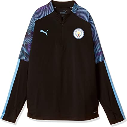 Puma 2019 2020 Manchester City Half Zip Training Top (Black) Kids