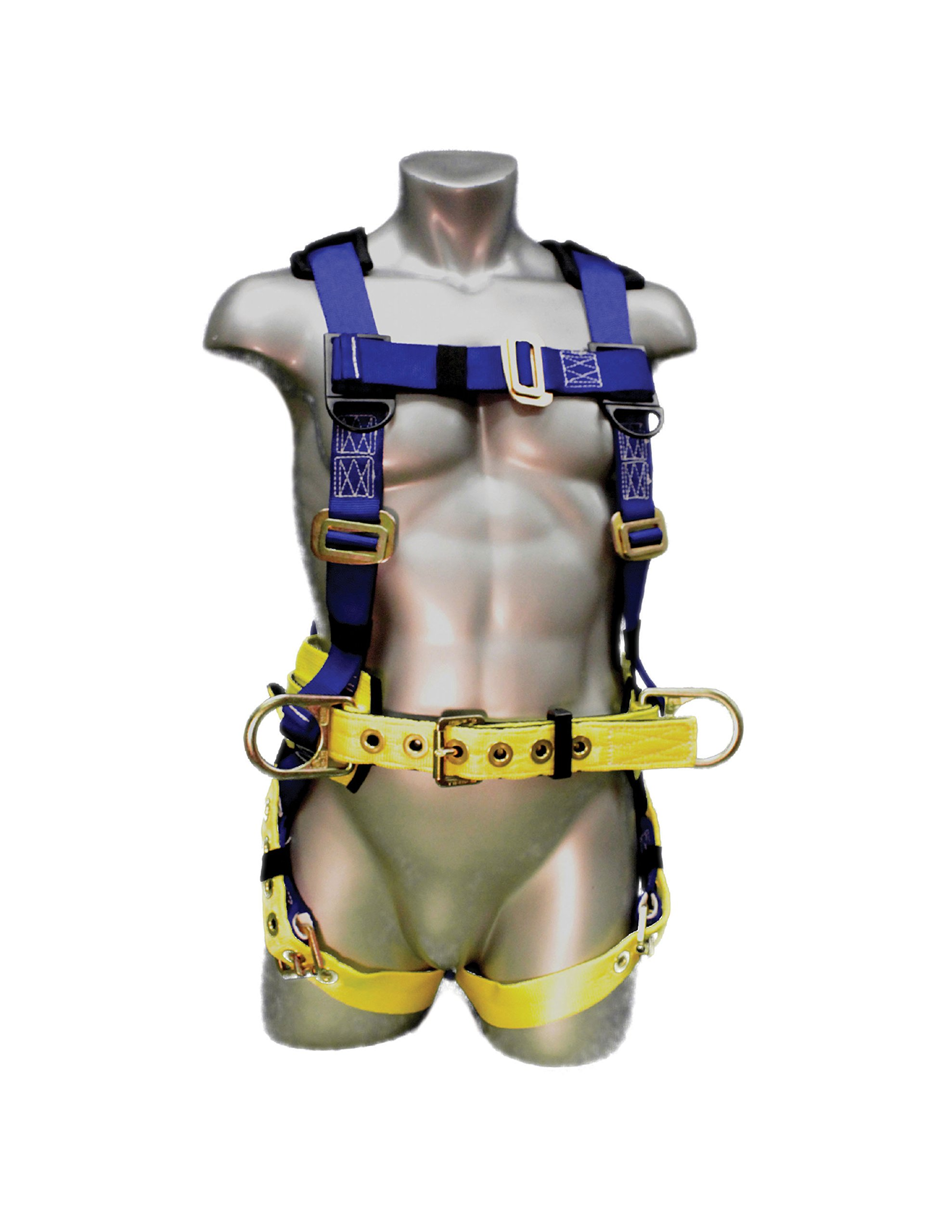 Elk River WorkMaster Harness with Tongue Buckles, 3 D-Rings, Polyester/Nylon, Medium