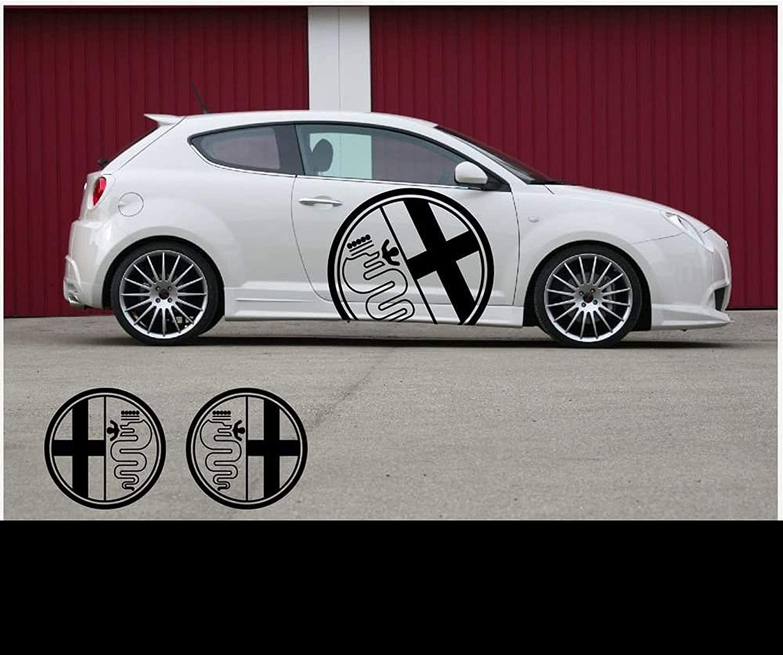 Myrockshirt 2x Alfa Romeoaufkleber Logo 60cm Aufkleber Tuning Scheibe Lack Typ Mrs50 Bonus Testaufkleber Estrellina Glückstern Montageanleitung Waschanlagenfest Profi Qualität Auto
