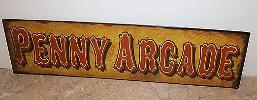 Penny Arcade Cartel de Metal Vintage con diseño de Circo ...