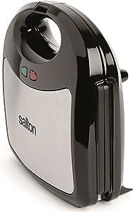 Salton SM1543 3-in-1 Pocket Sandwich Maker, 2.26 kg, Stainless Steel