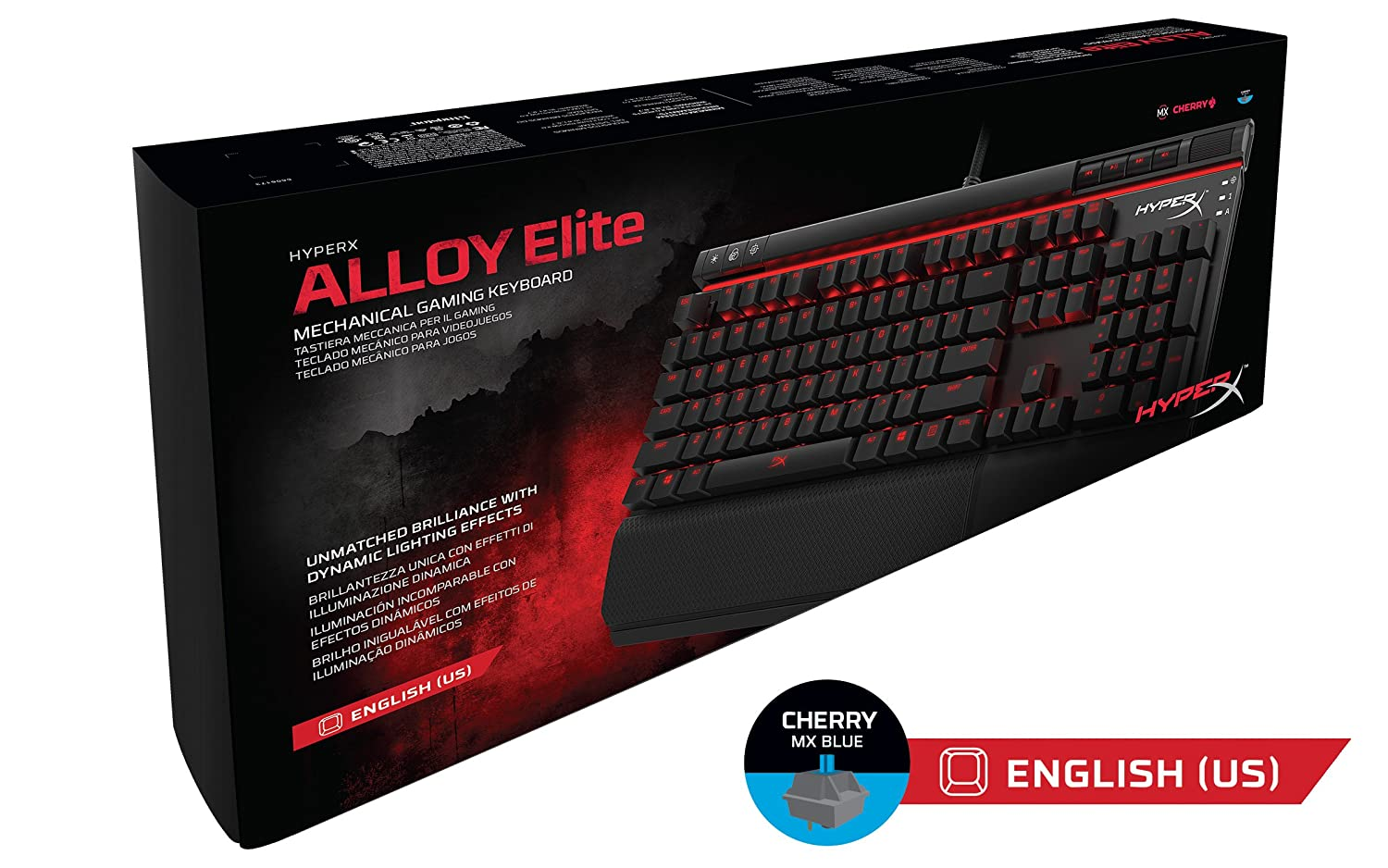 Amazon.com: HyperX Alloy Elite Mechanical Gaming Keyboard, Cherry MX Blue, Red LED and HyperX Fury S Pro Gaming Mouse Pad Medium: Computers & Accessories