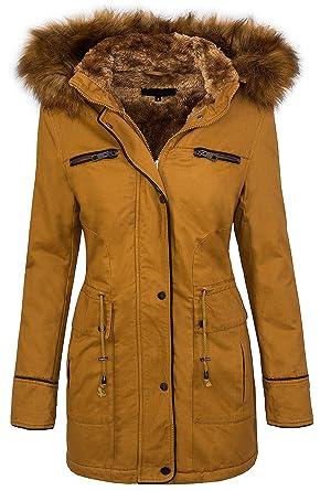 neues Design beliebt kaufen echte Qualität Winter Damen Jacke Damen Parka Mantel Damenjacke mit Kapuze Fellkragen D-214