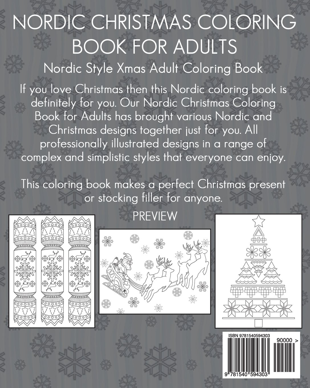 Amazon Com Nordic Christmas Coloring Book For Adults Nordic Style Xmas Adult Coloring Book Featuring An Array Of Complex And Simplistic Images 9781540594303 People The Coloring Book Books