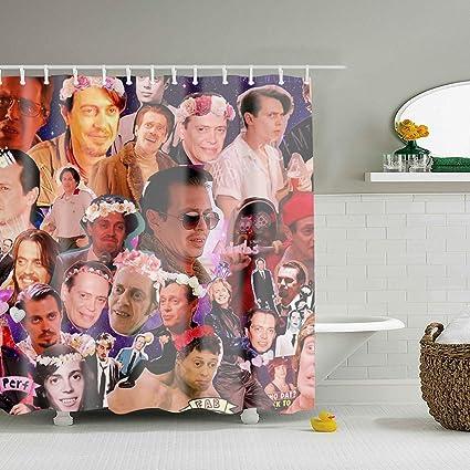 WANL Steve Buscemi Galaxy Collage Shower Curtain Bath Decorations Bathroom Decor