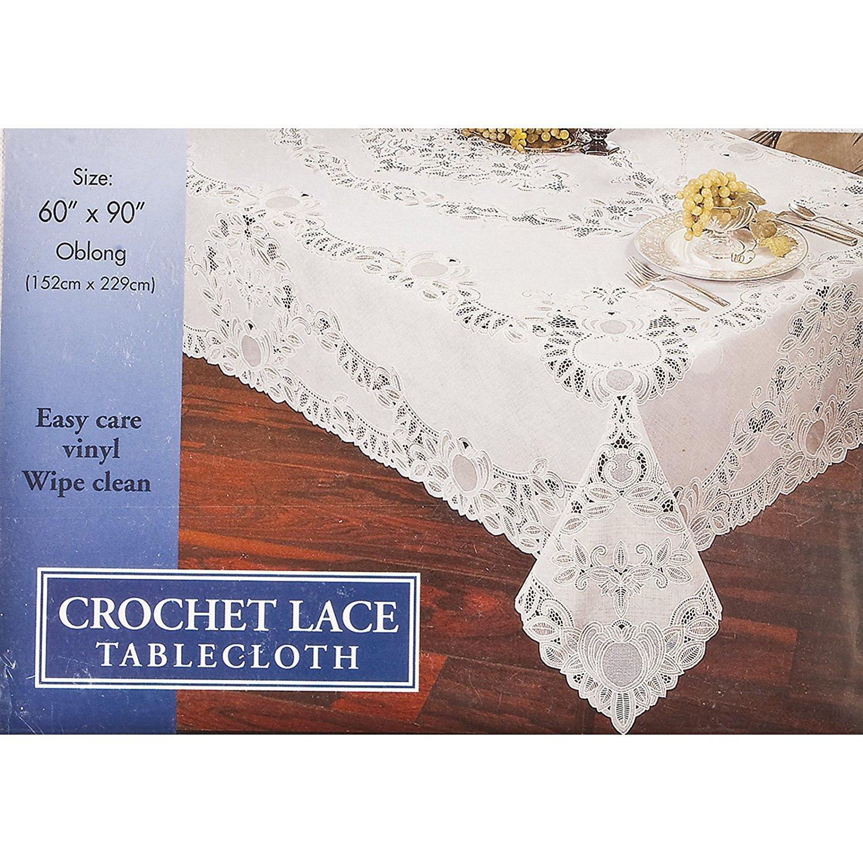 Crochet encaje - Mantel de vinilo: Amazon.es: Hogar