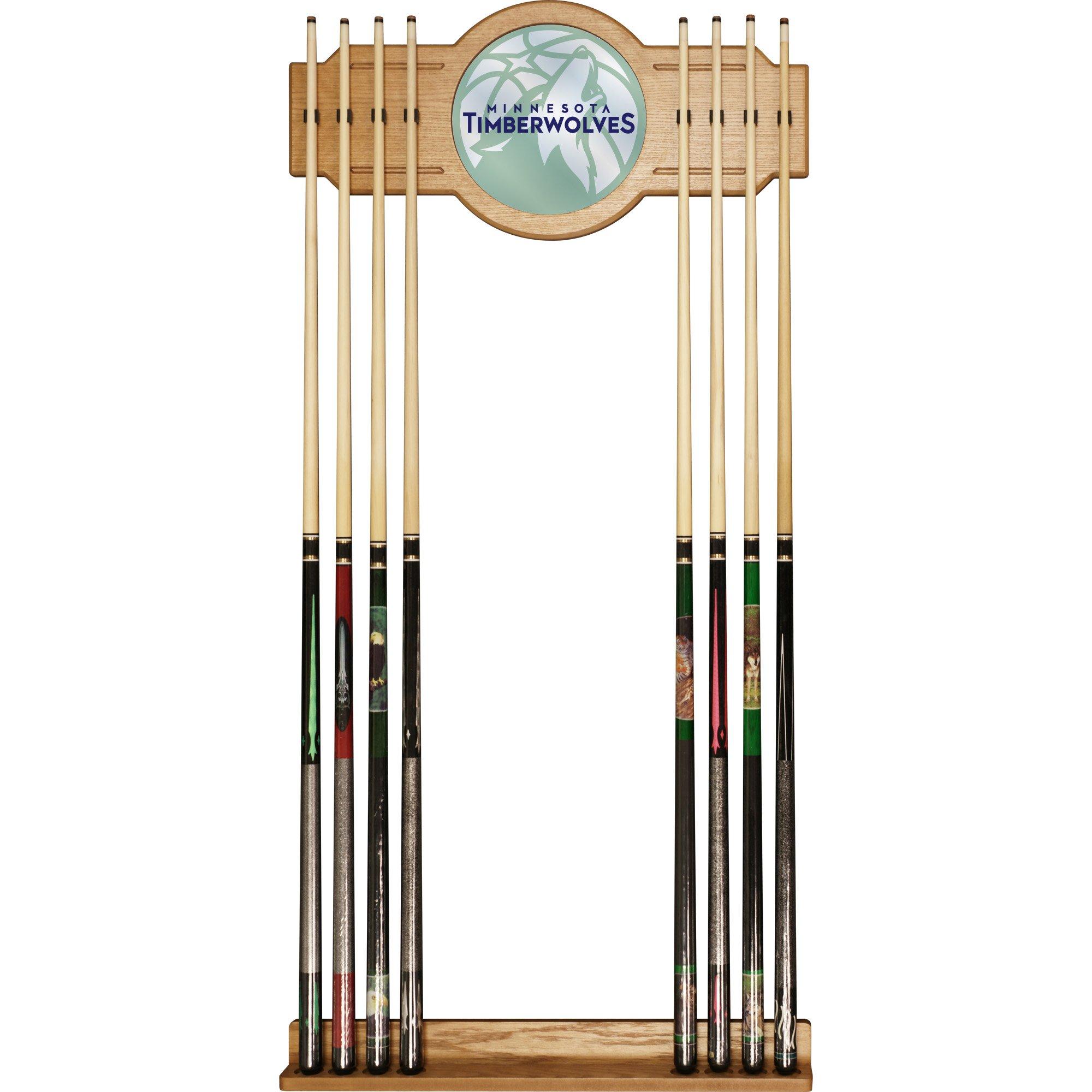 Trademark Gameroom NBA6000-MT2 NBA Cue Rack with Mirror - Fade - Minnesota Timberwolves