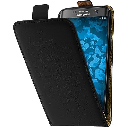 10 opinioni per Copertura di cuoio artificiale per Samsung Galaxy S7 Edge- Flip-Case nero- Cover