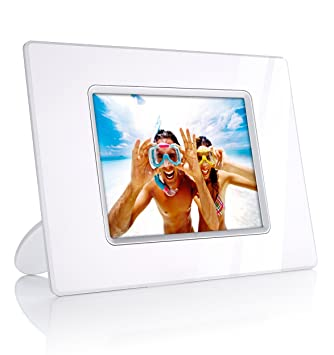 philips 56 inch digital photo frame white