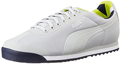 7fe604fcbbbf Puma Men s Roma Basic Geometric Camo Grey Violet Sneakers - 8 UK India (42