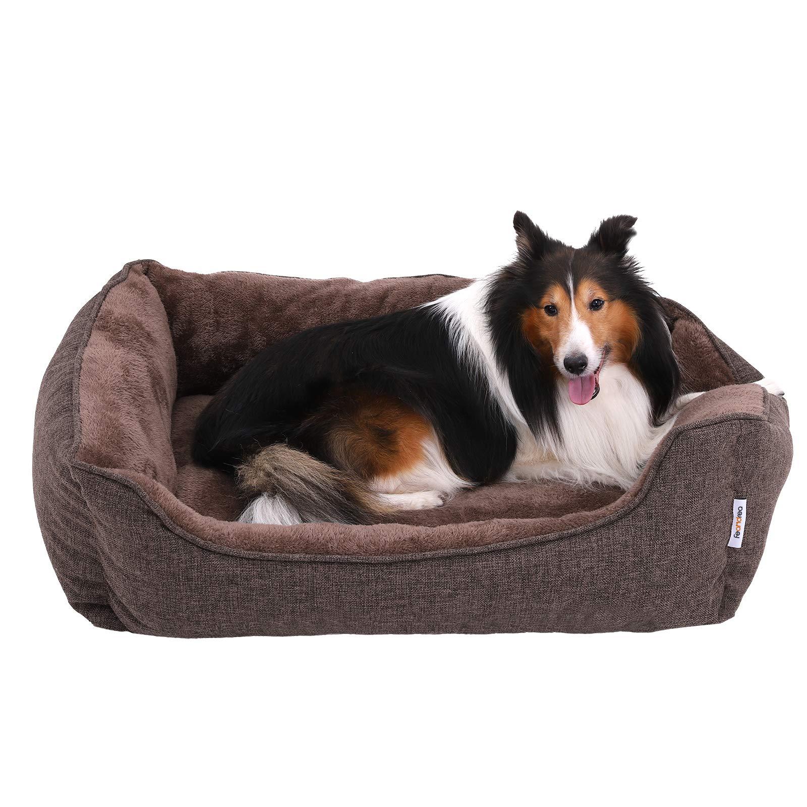 FEANDREA Cama para Perros, Sofá para Perros, Cesta para Perro Desmontable y Lavable a