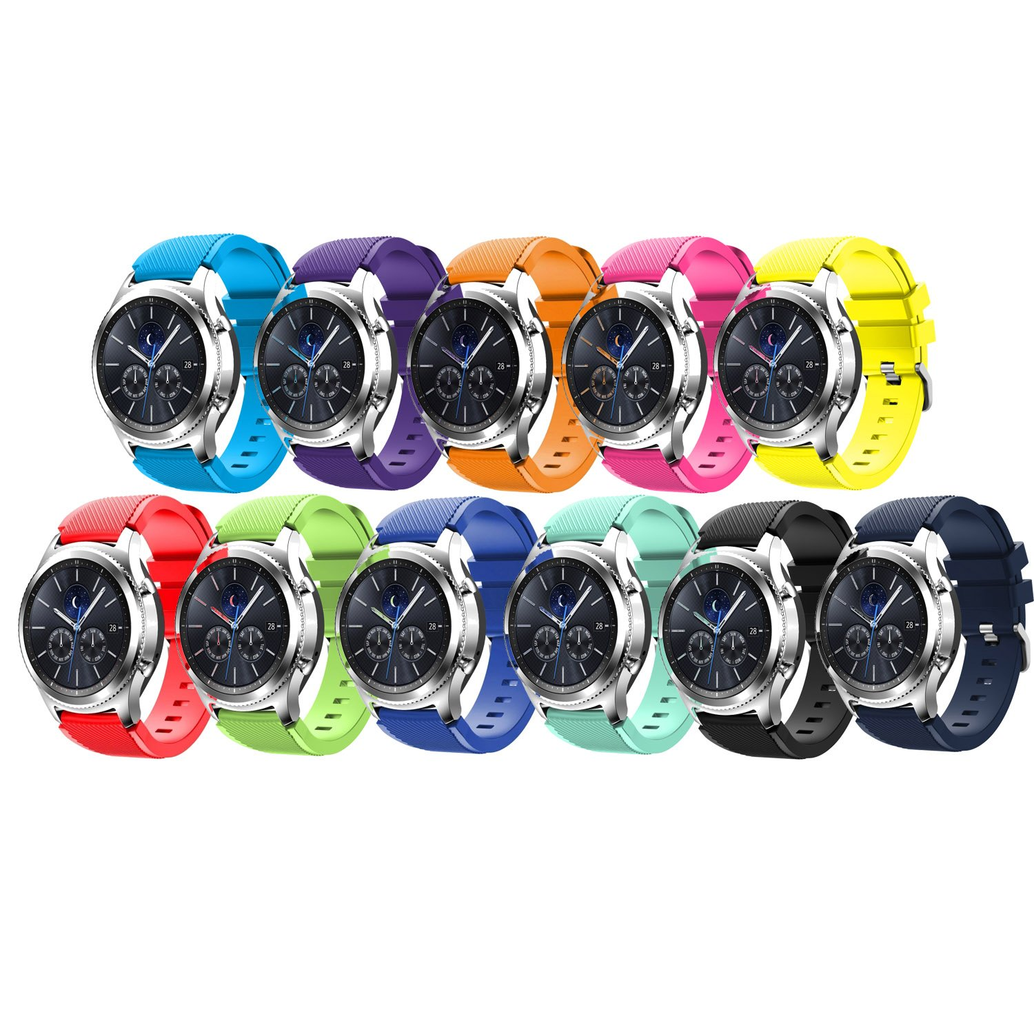 Tabcover for Gear S3 Frontier Correa,11 Colors 22mm Soft Silicone ...