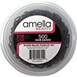 500 Count Rubber Bands in Re-closable Container for Ponytails and Braids (Brown)
