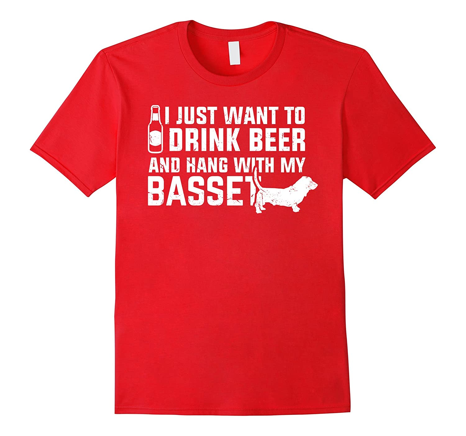 Basset Hound Shirt | I just want to drink beer tshirt-CL
