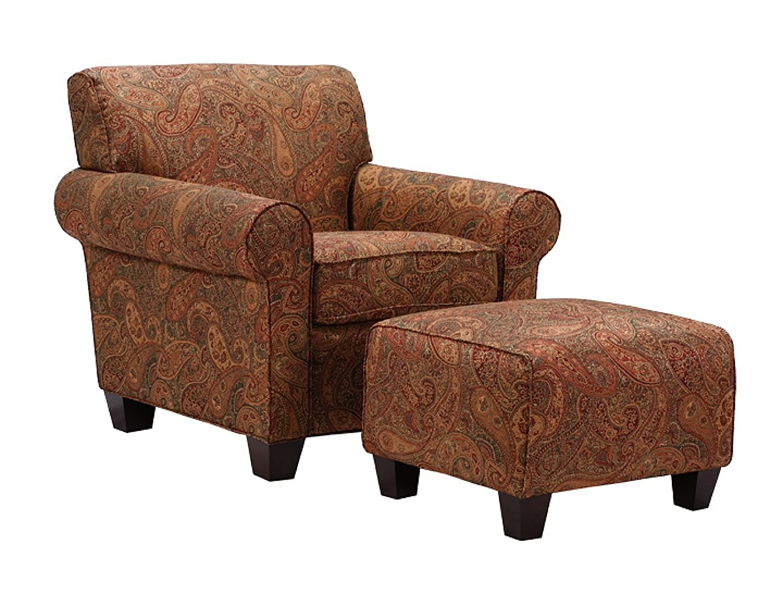 Amazon.com: Handy Living Washington Chair and Ottoman, Sienna Paisley:  Kitchen & Dining - Amazon.com: Handy Living Washington Chair And Ottoman, Sienna