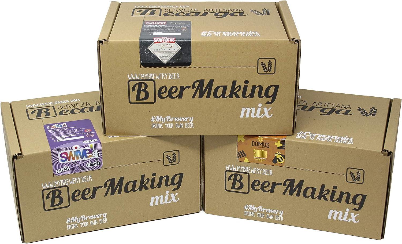 Pack 3 recargas de materias primas para elaborar cerveza en casa. Domus Miel, Swivel Creative Pale Ale by Dawat & San Frutos Amber Ale: Amazon.es: Alimentación y bebidas