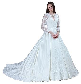 ImPrincess Wedding Dress Medieval Style NO.ip4-6020 at Amazon ...
