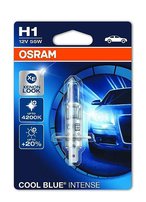 1089 opinioni per OSRAM COOL BLUE INTENSE H1 Lampada alogena per proiettori 64150CBI-01B 4200K e