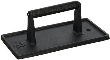 Steven Raichlen Prensa rectangular de acero fundido para barbacoa Negro