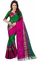 Saree Mall Women's Cotton Silk Saree With Blouse Piece (Kvs34004_Green)