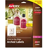 Avery Textured Print To The Edge Arched Labels Laser Printers 3