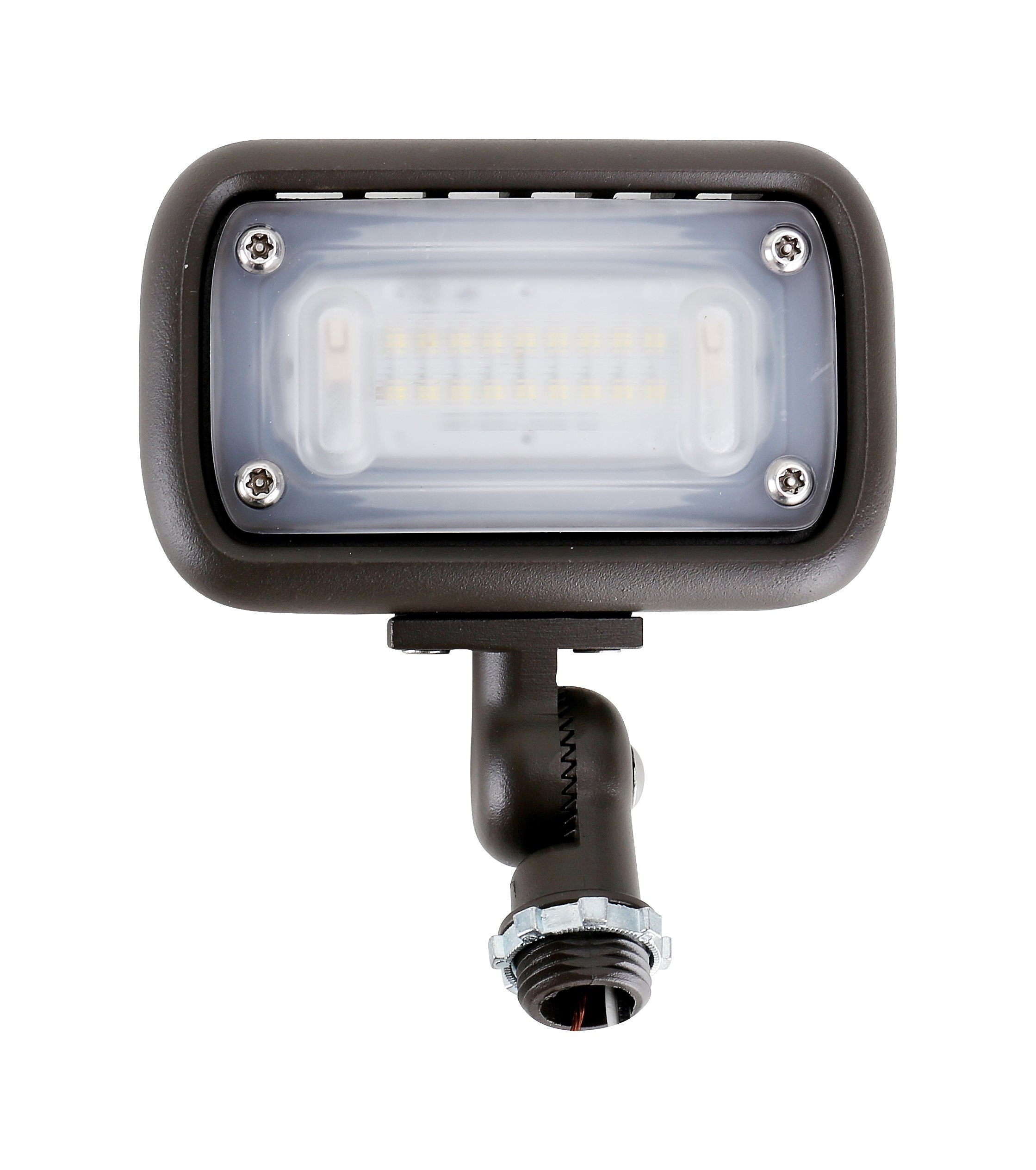 15W Outdoor LED Flood Security Lights, Waterproof Landscape Lighting, 50W PSMH Equivalent, 1500 Lumens, 4000K Cool White, 1/2'' Adjustable Knuckle, UL-Listed, DLC4.2 Qualifiled, 5 Years Warranty