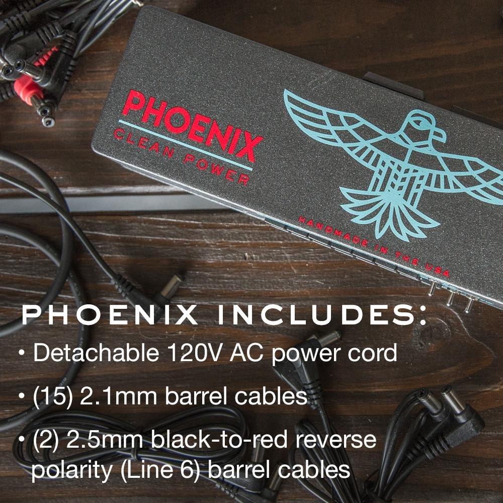 Limited Edition Black New Artwork Walrus Audio Phoenix 15 120 Volt Output Power Supply
