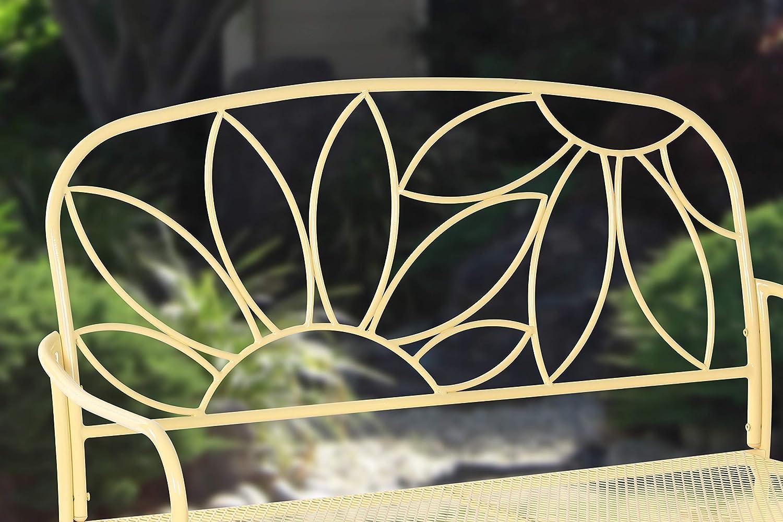 Yellow Liberty Garden Patio S-K-140PBN Bright /& Fun Bench Renewed