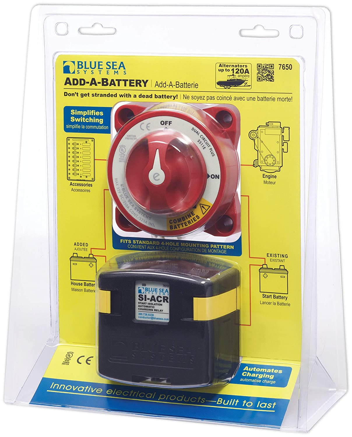 Blue Sea Systems 7650 Add A Battery Kit Automotive Car Failure Detector The Circuit Products Sports Outdoors