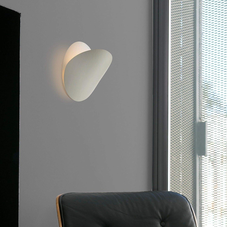 White Faro Barcelona OVO 62105/Wall Light Metal and Glass Diffuser