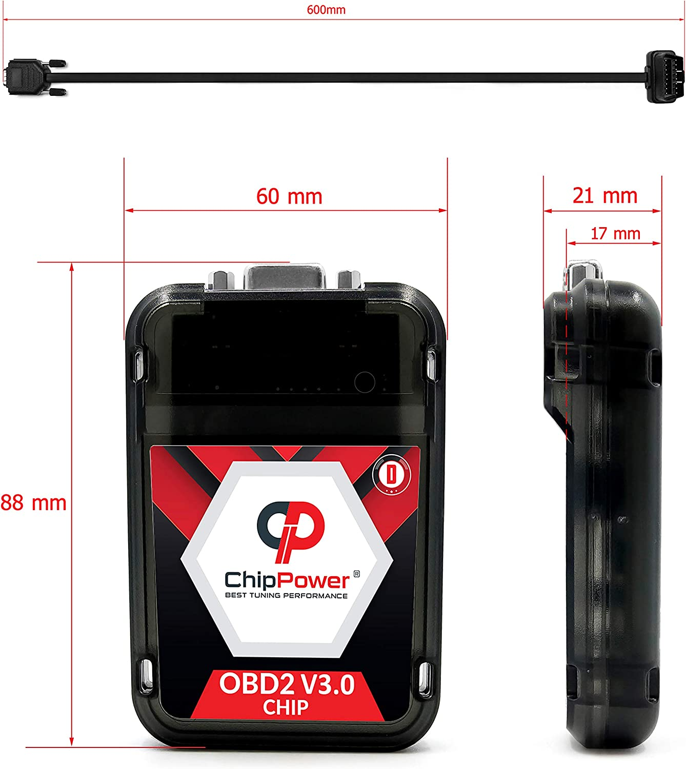 Chip Box Tuning OBD2 v3 for C-Class C320 CDI W204//S204 224 HP Performance Diesel